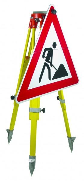 Warnschild Bauarbeiten einf.klappb.