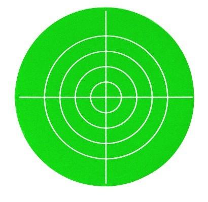 Zielplatte rot/grün Kunststoff