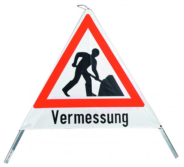 Warnpyramide 70 cm Bauarbeiten/Verm.