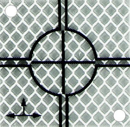 Reflex-Zielplatte